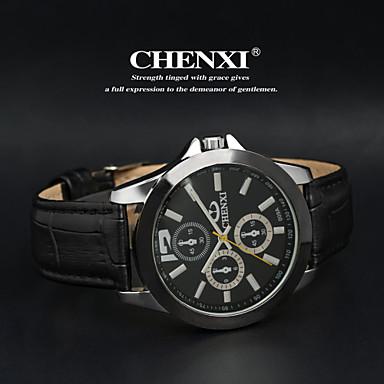 CHENXI® Férfi Karóra Kvarc Japán kvarc Bőr Zenekar Fekete