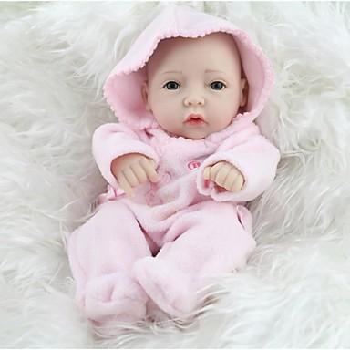 NPK DOLL Reborn-dukker Baby Full Body Silicone / Silikon / Vinyl - liv som, Håndhåndterte øyenvipper, Tippede og forseglede negler Barne Jente Gave / CE / Naturlig hudton / Floppy Head