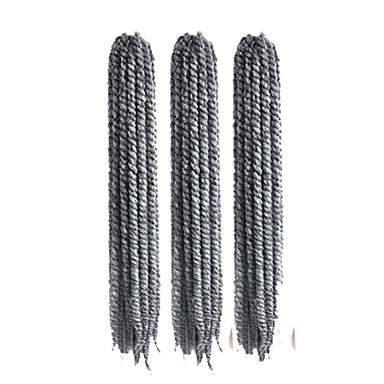 Tranças torção Havana fibra sintética Cinzento Extensões de cabelo 12
