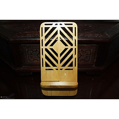 janela de grelha (forma de diamante) titular do telefone de madeira marfim