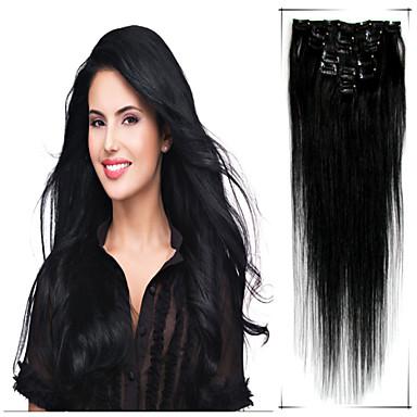 clipe humana em extensões de cabelo
