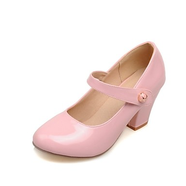 Jaune Femme 04798098 Fille Bottier Chaussures Boucle Printemps Automne Talon Similicuir Rose Bleu wTnZ8qCw