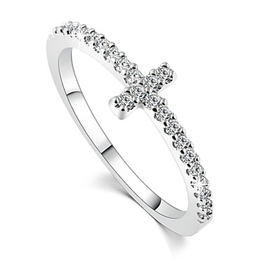 Women's Band Ring Silver Zircon Fashion Wedding Party Daily Casual Costume Jewelry