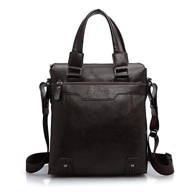 Férfi Táskák PU Válltáska Kéztáska Gurulós bőrönd / kabinbőrönd mert Esküvő Előírásos Szakmai célokra Ősz Fekete Barna Khakizöld