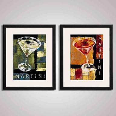 Impressão de Arte Emoldurada Quadros Emoldurados Conjunto Emoldurado Abstrato Paisagem Vida Imóvel Comida e Bebida Feriado Lazer Arte de