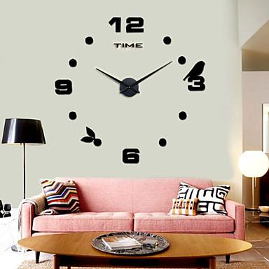υψηλής ποιότητας 3d ρολόι τοίχου DIY σιωπηλή νέο μοντέρνο σχεδιασμό 12s006