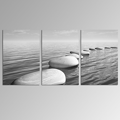 Abstrakti / Fantasy / Leisure / Landscape / Valokuvaus / Moderni / Romantiikka / Pop Art Canvas Tulosta 3 paneeli Valmis Hang , Horizontal