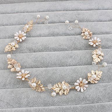abordables Coiffes-Imitation de perle Bandeaux / Coiffure avec Fleur 1pc Mariage / Occasion spéciale / Décontracté Casque