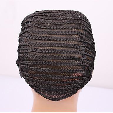 10PCS 가발을 만들기위한 싼 가발 캡에 쉽게 바느질을위한 가발 캡을 cornrow, 꼰 가발 모자는 검은 색을 갈고리