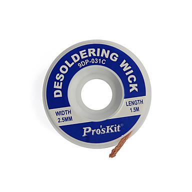 pavio pro'skit 9DP-031c desoldering (2,5 milímetros) de comprimento (1,5 m)