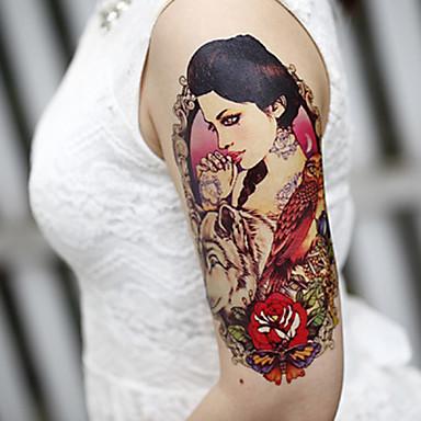 iso käsi kukkia fake siirto väliaikaiset tatuoinnit kehon seksikäs tarroja vesitiivis