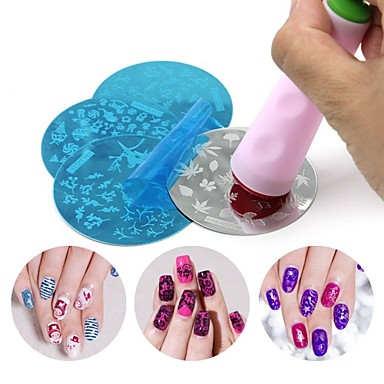 1 pcs Stamping Plate / Nail Jewelry / 3D Nail Acrylic Molds Abstract / Fashion Daily Nail Art Design