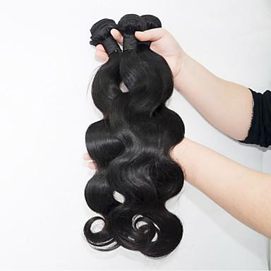 3 pacotes Cabelo Brasileiro Onda de Corpo Cabelo Humano Cabelo Humano Ondulado Tramas de cabelo humano Extensões de cabelo humano