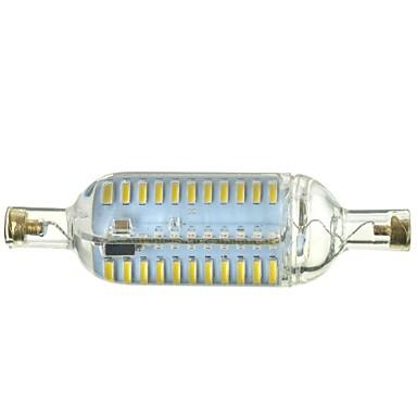 R7S LED klipaste žarulje Ugradbena rasvjeta 76 LED diode SMD 4014 Zatamnjen Ukrasno Toplo bijelo Hladno bijelo 600-700lm 3500-6500kK AC