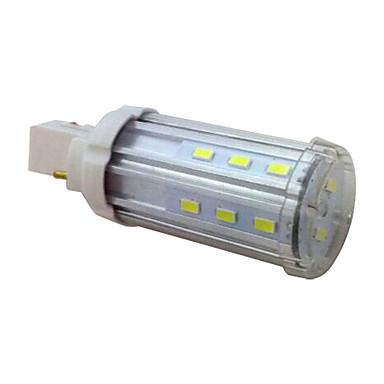LEDun 100 lm G24 LED 콘 조명 T 20 LED가 SMD 5730 장식 따뜻한 화이트 내추럴 화이트 AC 85-265V