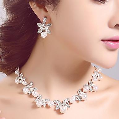 Žene Imitacija Pearl Umjetno drago kamenje Vjenčanje Party Special Occasion Rođendan Angažman Legura Füllbevalók Ogrlice