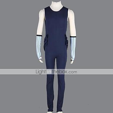 קיבל השראה מ Naruto Zabuza Momochi אנימה תחפושות קוספליי חליפות קוספליי טלאים תחבושת /סרבל תינוקותבגד גוף כפפות נעליים מסכה רצועת ראש עבור