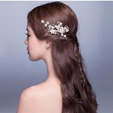 pearl gyöngyfű ötvözet haj fésű fejpárt elegáns stílusban