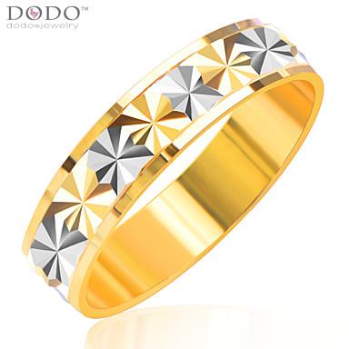 Homens Feminino Casal Anéis de Casal bijuterias Chapeado Dourado Jóias Para Casamento Festa Diário Casual