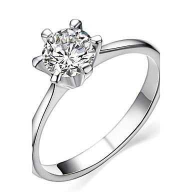 abordables Bague-Femme Cristal Imitation Diamant - Classique Amour Pierres de naissance Mode Argent Doré Bague Pour Mariage Soirée Cadeau Quotidien