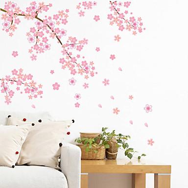 Landskap Romantik Mote Former Blomster Transport fantasi Botanisk Tegneserie Højtid Veggklistremerker Fly vægklistermærker Dekorative Mur