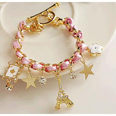 abordables Bracelet-Chaînes Bracelets Etoile Tour Eiffel unique Travail Simple Européen Mode Bracelet Bijoux Rose pour Soirée Cadeau Valentin