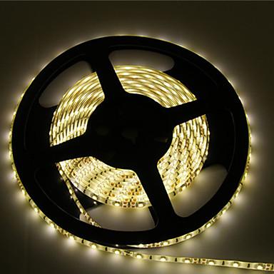 5m Esnek LED Şerit Işıklar 600 LED'ler 2835 SMD Sıcak Beyaz / Beyaz Kesilebilir / Su Geçirmez / Bağlanabilir 12 V / IP65 / Kendinden Yapışkanlı
