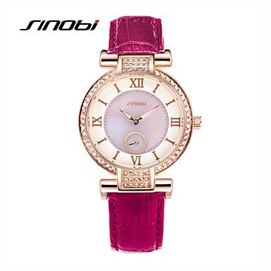 SINOBI Жен. Наручные часы Кварцевый Кожа Фиолетовый 30 m Защита от влаги Аналоговый Дамы Кулоны Мода - Лиловый Зеленый Два года Срок службы батареи / Sony SR626SW