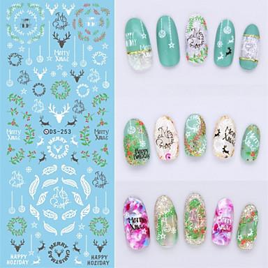 3D Nail Stickers - Muuta - Sarjakuva / Abstrakti - Sormi - 16X7X0.1 - 1
