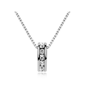 billige Mote Halskjede-Krystall Anheng Halskjede Enkel Klassisk Krystall Gylden Sølv Halskjeder Smykker Til