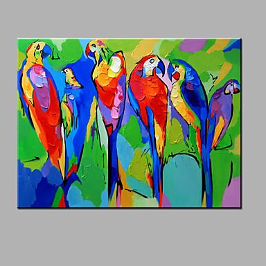 olajfestmény modern absztrakt tiszta kézzel készít kész lógni dekoratív papagáj olajfestmény