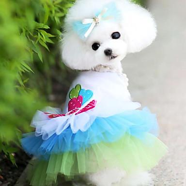 Pas Haljine Odjeća za psa Srce Plava Pink Pamuk Kostim Za kućne ljubimce Muškarci Žene Moda