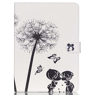 Case For iPad Air 2 Card Holder with Stand Full Body Cases Dandelion PU Leather for iPad Air 2