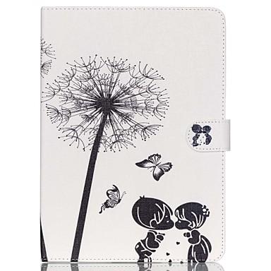 Case Kompatibilitás iPad Air 2 Kártyatartó Állvánnyal Héjtok Pitypang PU bőr mert iPad Air 2