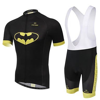 XINTOWN Askılı Şortlu Bisiklet Forması Unisex Kısa Kollu Bisiklet Pedli Şortlar Önlüğü Tayt Forma Giysi SetleriHızlı Kuruma Ultravioleye