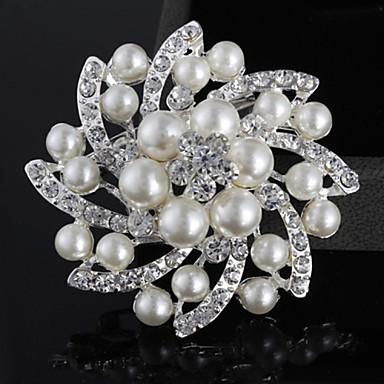 Damen Perle Künstliche Perle versilbert Imitation Diamant Aleación Modisch Schmuck Hochzeit Party Normal