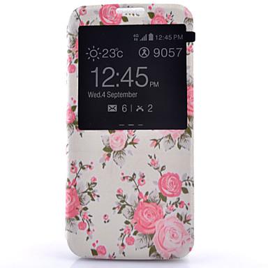 Hülle Für Samsung Galaxy Samsung Galaxy S7 Edge mit Sichtfenster Flipbare Hülle Ganzkörper-Gehäuse Blume PU-Leder für S7 Plus S7 edge S7