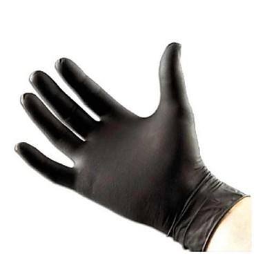 basekey לחץ אבקת מכונאי קעקוע כפפות ניטריל פנוי שחור חינם התאגרפה 100