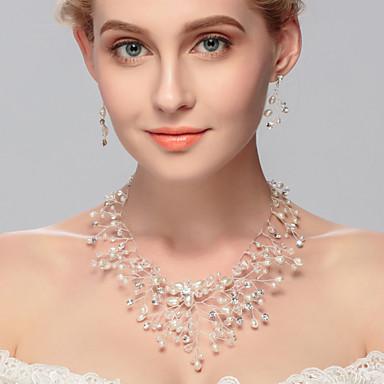 Dame Imitert Perle Smykkesett - Andre Sølv