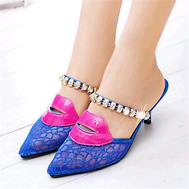 Ženske cipele-Salonke / štikle / Papuče-Ležerne prilike-Til-Stiletto potpetica-Štikle / Papuče-Plava / Zlatna