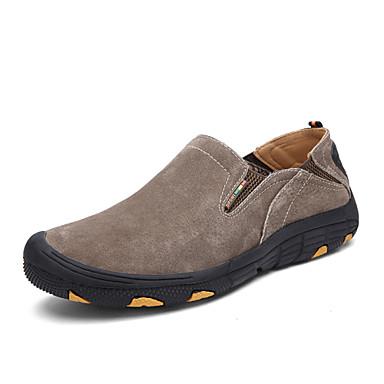 Miehet kengät Siannahka 봄/Syksy Comfort Valopohjat Mokkasiinit Käyttötarkoitus Kausaliteetti Harmaa Kahvi Khaki