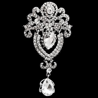 Broches Fashion Vidro Imitações de Diamante Liga Flor Jóias Para Casamento Festa Ocasião Especial Aniversário