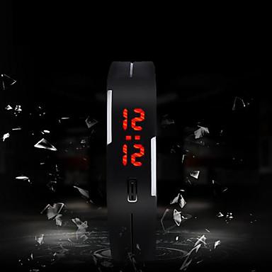baratos Relógios Homem-Homens Relógio Esportivo Digital Silicone Cores Múltiplas Tela de toque LED Digital Amuleto Fashion - Verde Rosa claro Azul Claro Um ano Ciclo de Vida da Bateria / SODA AG4