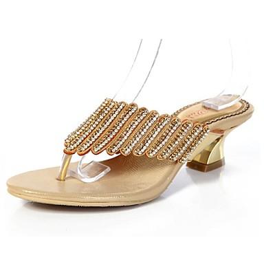 Ženske Proljeće Ljeto Jesen Cipele Mary Jane Sandale s remenom oko palca Koža Ležeran Zabava i večer Formalne prilike Kockasta potpetica