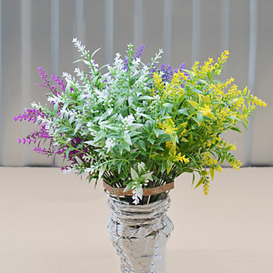 korkealaatuinen laventelin kukkia silkki kukka silkki kukka kukkien sisustuksessa kukka kit 1kpl / setti