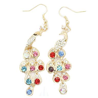 Viseće naušnice Moda Europska Umjetno drago kamenje Platinum Plated Legura Duga Jewelry Za 1set