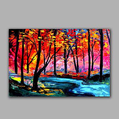Kézzel festett Landscape Vízszintes, Modern Vászon Hang festett olajfestmény lakberendezési Egy elem