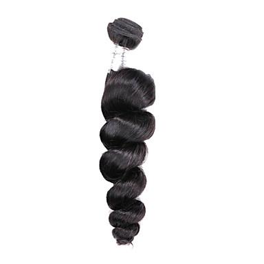 Włosy naturalne Włosy brazylijskie Człowieka splotów włosów Luźne fale Przedłużanie włosów 1 sztuka Czarny