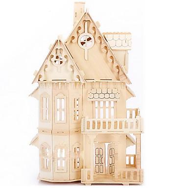 voordelige 3D-puzzels-Legpuzzels 3D-puzzels / Houten puzzels Bouw blokken DIY Toys Huis Hout Goud Modelbouw & constructiespeelgoed