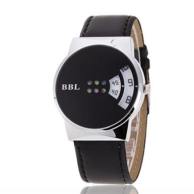 Homens Relógio de Pulso Único Criativo relógio Quartzo Relógio Casual Couro Banda Preta Marrom